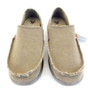 CROCS Kaleb Khaki Chocolate Loafer Slip On Shoes